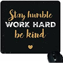 YaYa Cafe KH1454 Motivational Print Mousepad for Computer/PC/Laptop (Black)