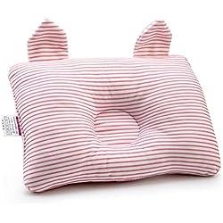 Affe Baby Schlafkissen Neugeborene Baumwolle Babykissen Verhindern Flache Kopf (Rosa)