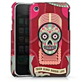 Coque Compatible avec Apple iPhone 3Gs Étui Housse Tête De Mort Os Pinup