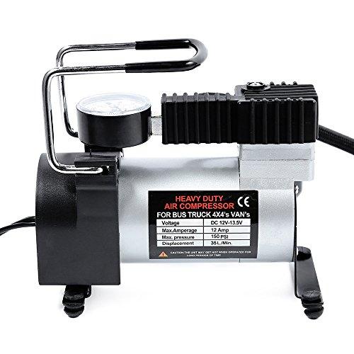 RosyXandy 12V Auto Elektrische Kompressor Pumpe Einzel-Zylinder Kompressor mit Reifendruck Monitor für CAR SUV Motor Bike Air Matratzen, luftboot, Luftmatratze, Luftgepolsterte Basketbälle