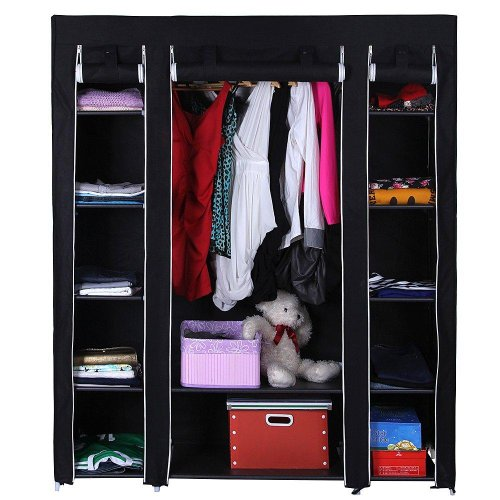 new-black-triple-canvas-wardrobe-with-shelves-bedroom-storage-furniture-by-delta
