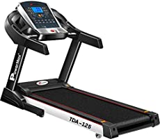 Powermax Fitness TDA-125 2HP (4HP peak) Motorized Treadmill with Auto-Inclination and Auto Lubrication