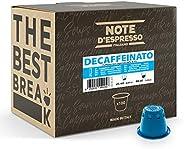 Note d'Espresso Italiano - Cápsulas de Café Descafeinado Compatibles con Afeteras Nespresso, 100 Unidades