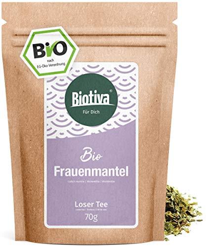 Frauenmantelkraut Bio - 70g hochwertigste Bio - Qualität - Bio-Frauenmanteltee - Alchemilla - von Hebammen empfohlen - Abgefüllt und kontrolliert in Deutschland (DE-ÖKO-005)