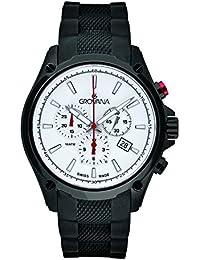 Grovana reloj infantil de cuarzo para hombre con cronógrafo y negro correa de goma 1635,9872