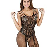 Lenceria erotica de mujer,VENMO Vestido de Encaje de las Mujeres Ropa Interior Atractivo Babydoll Lencería Liguero (negro)