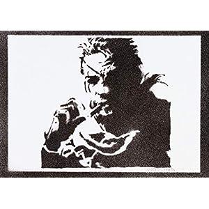 Metal Gear Solid Snake Poster Plakat Handmade Graffiti Street Art – Artwork