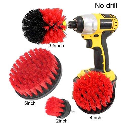 symboat 4PCS/Set Fliese Grout Power HOBOT Reinigung Drill Bürste Badewanne Hochdruckreiniger Combo Kit