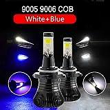 2Pcs 9005 Hb3 H10 9006 Hb4 Dual Color Auto Car Led Fog Lights Bulb Lamp White Golden YEL Ice Blue 3000K 6000K Dual Color 12V:YEL, 9005/Hb3