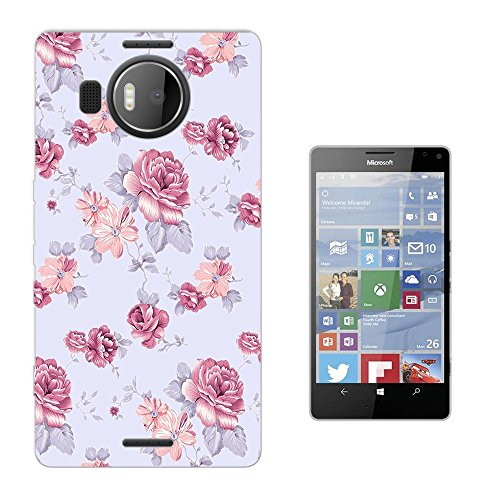 002958 - Shabby Chic Pink Red Floral Rosess Floral Roses flowers Design Microsoft Nokia Lumia 950 XL Fashion Trend Silikon Hülle Schutzhülle Schutzcase Gel Rubber Silicone Hülle