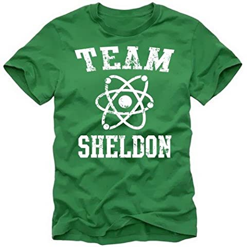 TEAM SHELDON - big bang theory ! T-Shirt Vintage Green_Weiss Gr.M