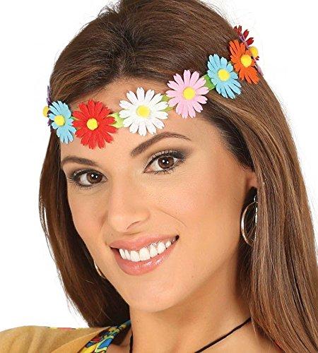 (Enter-Deal-Berlin Stirnband - Hippie - mit Bunten Blumen)