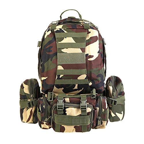 Combinazione zaino alpinismo zaino borsa camouflage zaino alpinismo, giungla verde camouflage Giungla verde Camouflage