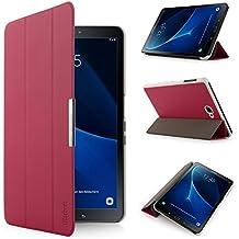 iHarbort® Samsung Galaxy Tab A 10.1 Funda - ultra delgado ligero Funda de piel de cuerpo entero para Samsung Galaxy Tab A 10.1 pulgada (2016 Version SM-T580N SM-T585N) con la función del sueño / despierta (Galaxy Tab A 10.1, Rosa)
