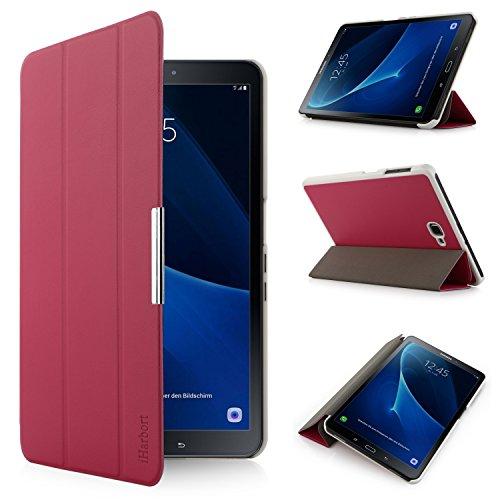iHarbort® Premium Hülle für Samsung Galaxy Tab A 10.1 (SM-T580/T585) - Samsung Galaxy Tab A 10.1 hülle Etui Schutzhülle Case Cover Holder Stand mit Smart Auto Wake/Sleep-Funktion (Rosa)