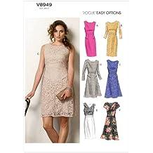 McCall's Patterns Vogue VGE 8949 - Patrón e instrucciones para coser vestidos de mujer (tallas de S a XL), multicolor