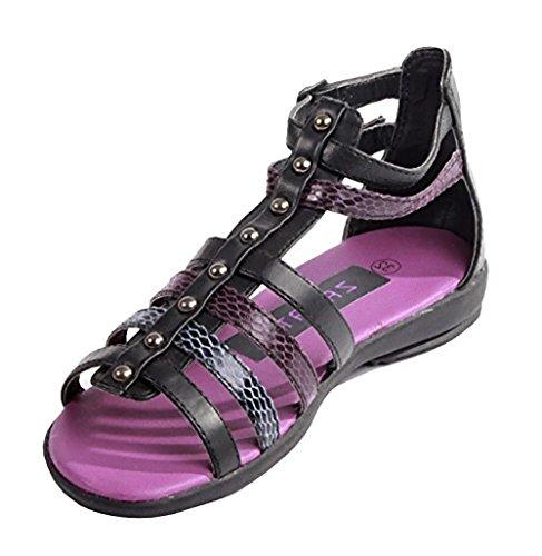 Mädchen Riemchen Sandalen Gr.32 Sandaletten Sommerschuhe Freizeitschuhe schwarz