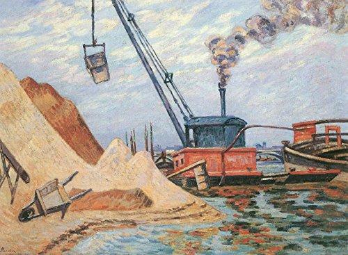 Das Museum Outlet-Die Quay of Austerlitz, 1899-Poster (mittel)