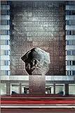 Poster 61 x 91 cm: Karl-Marx Monument in Chemnitz