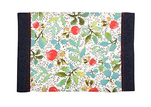 Comptoir de Famille Sets de Table Enduits - Lot de 2 100% Coton, Multicolore, 35 x 50 cm