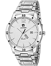 OCTIVO MARTIN OM-CHD 5010 Awesome White Dial Day & Date Functioning Stainless Steel Strap Analog Watch - For Men...