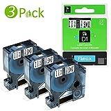 3x kompatibel Etikettienband/Schriftband S0720530 / 45013, für Dymo LM 160, LM 280, LM 210D, LM 360D, LM 500TS, LM 160D, LM 420P, LM 450D (Farbe: schwarz auf weiß/Größe: 12 mm x 7 m)