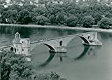 Fotomax Vintage Photo of France: Avignon Bridge in Avignon