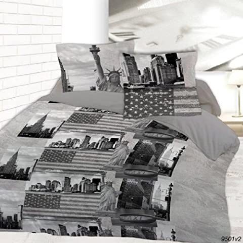 Housse de couette 220 x 240 New York sightseeing + 2 taies