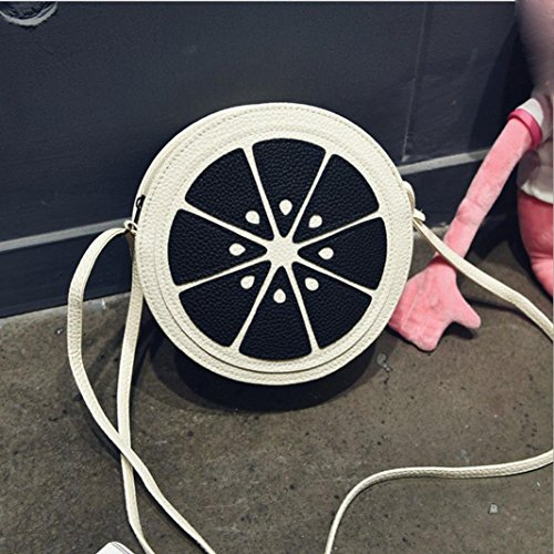 BZLine® Frauen Mini Runde Leder Messenger Umhängetasche Handtasche Tote, 20cm *7cm *20cm A