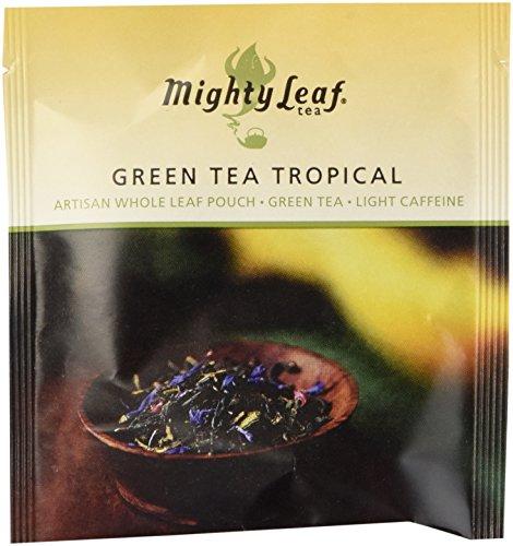 Mighty Leaf Tea Green Tea Tropical | 100 Seiden-Teebeutel | Grüner Tee mit Früchten und Blüten