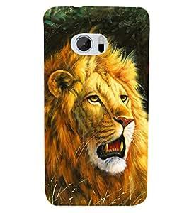 PRINTSHOPPII LION Back Case Cover for HTC One M10