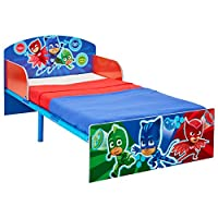 HelloHome Pj Masks Kids Toddler Bed, Wood, Blue