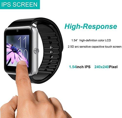YAMAY Bluetooth Smartwatch Fitness Uhr Intelligente Armbanduhr Fitness Tracker Smart Watch Sport Uhr mit Kamera Schrittzähler Schlaftracker Romte Capture Kompatibel mit Android Smartphone - 5