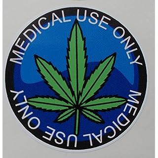 Advanced Printing 24 Marijuana Leaf Stickers Medical Use Only CBD Cannabidiol Oil 44mm Diameter