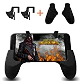 Mobile Game Controller, Smiler+ Sensitive Shoot and Aim Keys L1R1 and Gamepad for PUBG/Fortnite/Rules of Survival, Mobile Gaming Joysticks for Android IOS (1 Pair+1 Gamepad)