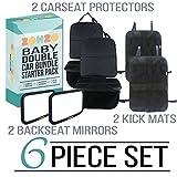Zohzo Car Bundle - Mirror/Protector/Kick Mat (2 Pack)