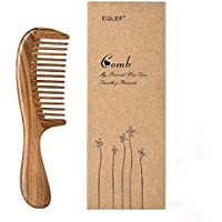 EQLEF Green sandalwood wide-tooth Natural comb, Large sandal wood comb anti static comb by EQLEF®
