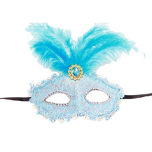 (Black Temptation Party-halbe Gesichtsmaske Kostüm Prinzessin Feder Maskerade Maske Maske-A1)