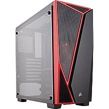 Corsair Carbide Series SPEC- 04 - Chasis semitorre para juegos de cristal templado, color negro/rojo (CC-9011117-WW)