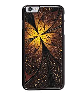 Fuson Premium 2D Back Case Cover Floral Pattern With Black Background Degined For Apple iPhone 6 Plus
