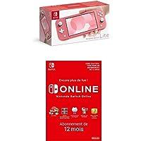 Console Nintendo Switch Lite Corail + Nintendo Switch Online - Abonnement 12 Mois (Code de téléchargement)
