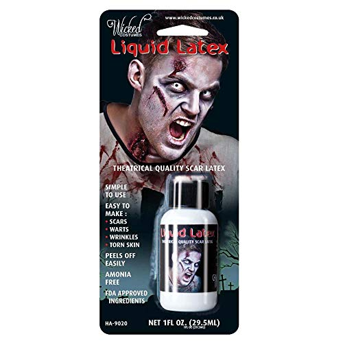 Blood Liquid Latex Fancy Dress Halloween Accessory Costume (Halloween Make-up Ideen, Hals)