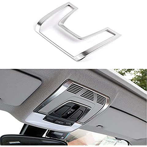 Para Bmw X6 F16 2015 mate frontal luz de lectura lámpara (incluye marco decorativo inoxidable
