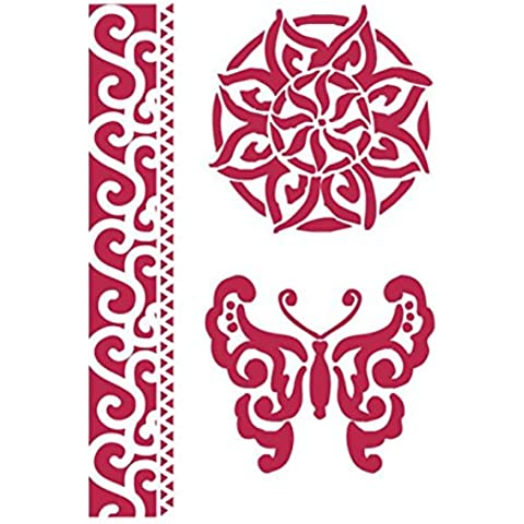 Stencil G 21x29.7 cm Farfalle e decorazioni - Stamperia KSG284