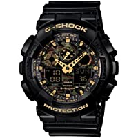 Casio G-Shock World time Analog-Digital Multi-Colour Dial Men's Watch - GA-100CF-1A9DR (G519)