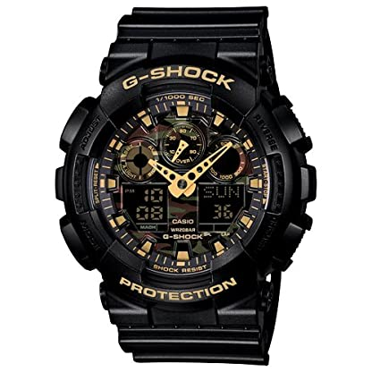 Casio G-Shock World time Analog-Digital Multi-Colour Dial Men's Watch – GA-100CF-1A9DR (G519)