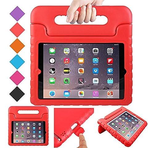 Luka Multi Fonction Enfant/Coque antichoc avec support/Poignée pour Apple iPad Mini/tablette iPad Mini rouge