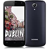 DOOGEE X3 3G-Smartphone IPS 4,5Zoll Touchscreen MT6580 Quad Core 1,3GHz Android 5.1 Lollipop 1G+8G Dual SIM Dual Kameras Smart Wake Air Gestures Schwarz