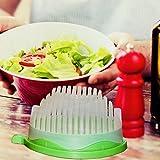 Kitchen Brothers Salat Schneider, Salat Bowl Cutter, Salat Brettchen, 100 % BPA frei