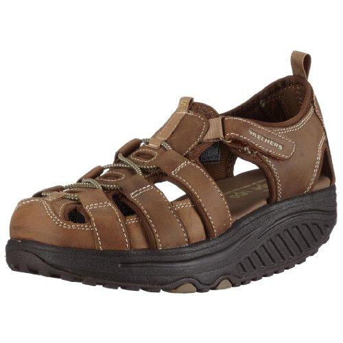 Skechers Shape UPS - Trim Step - Sandalias Deportivas de Cuero para Mujer, Color marrón, Talla 39.5